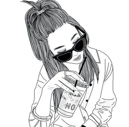 alternative, black, draw, fashion, follow, girl, glasses, grunge,