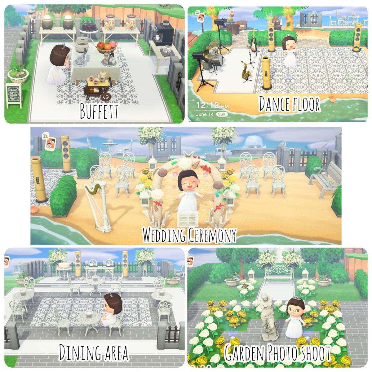 Acnh Beach Wedding Venue In 2020 Animal Crossing Game New Animal Crossing Animal Crossing Qr