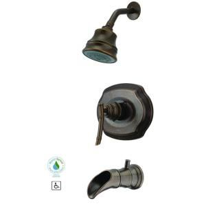 Pegasus Bamboo 1 Handle 3 Spray Tub And Shower Faucet In Heritage