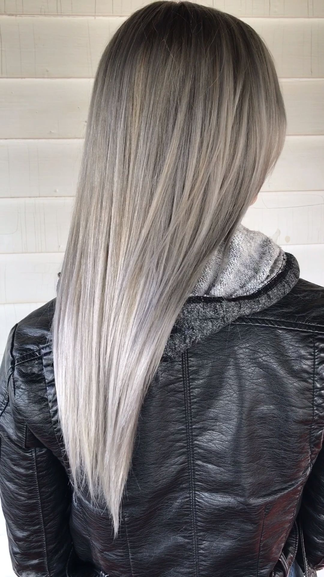 Video Pin Pale Silver Ash Blonde Balayage Ashy Blonde