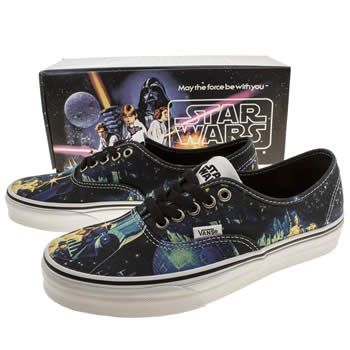 Womens Vans Wars Star X Authentic And Blue Trainers Black Yg76ybf