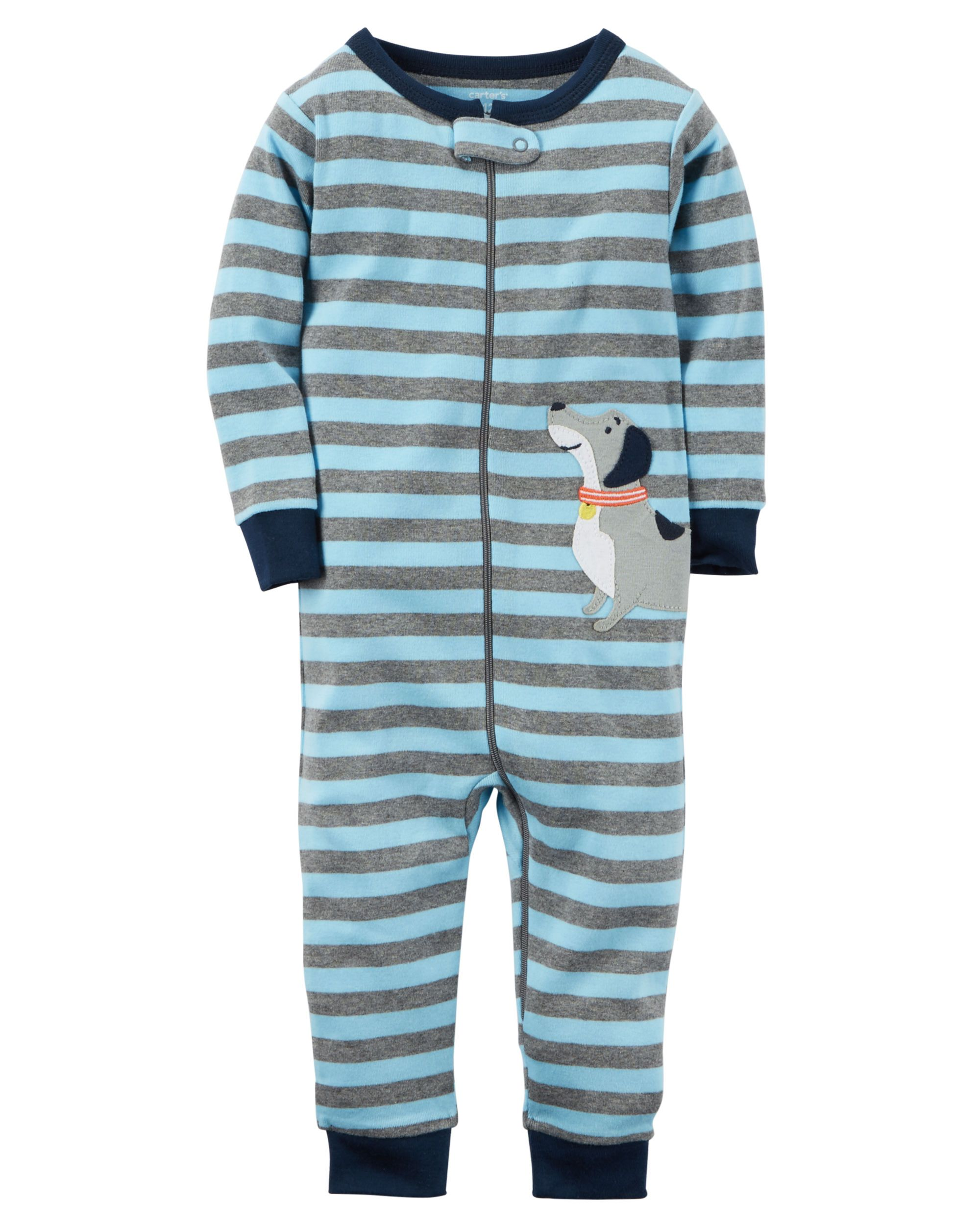 a986d2f076 Baby Boy 1-Piece Snug Fit Cotton Footless PJs