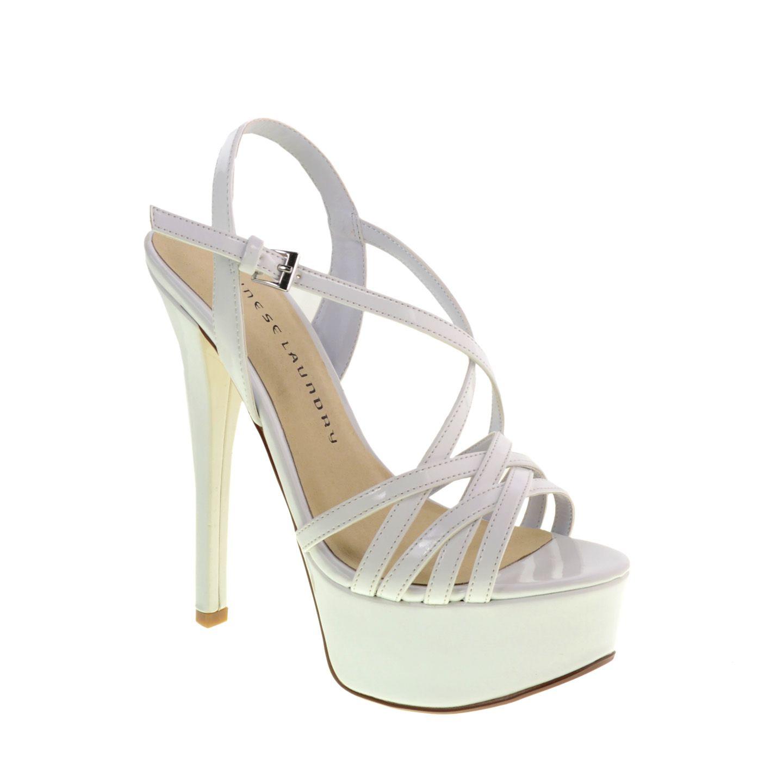 Tippy Top Teaser Platform Sandal White Pageant Shoes Stiletto Sandals Cl Shoes