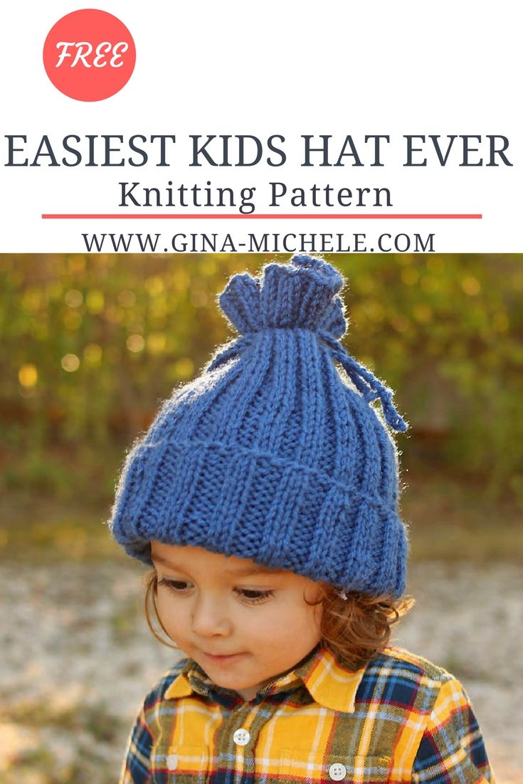 Easiest Kids Hat EVER Knitting Pattern | Knit patterns, Patterns and ...