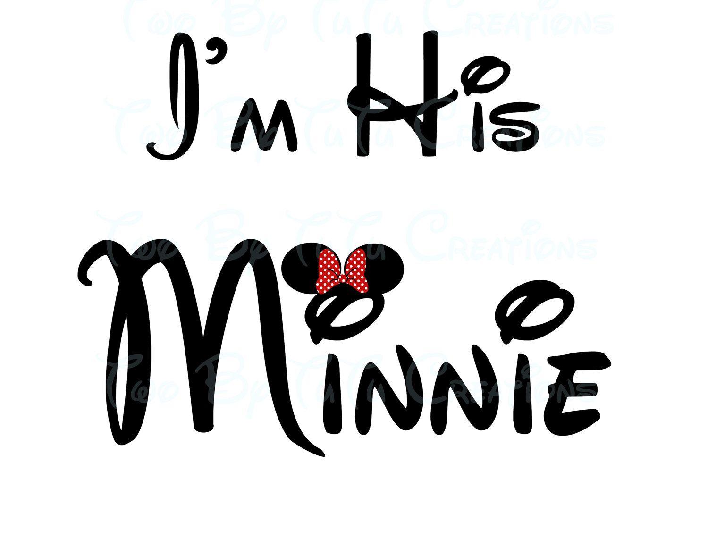 Disney Wedding Quotes I'm His Minnie Printable Wedding Sign Disney Themed Diy Printable