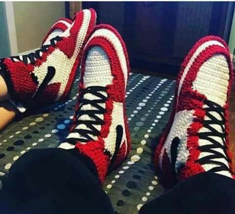 Knitted Jordan 1   Funny pictures