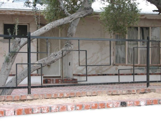 Mid Century Modern Wrought Iron Fence Google Search Mid