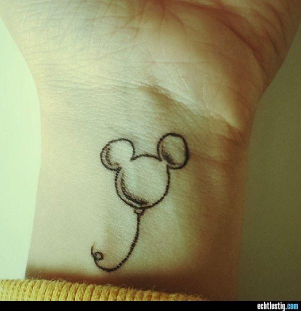Micky Maus Luftballon Tattoo