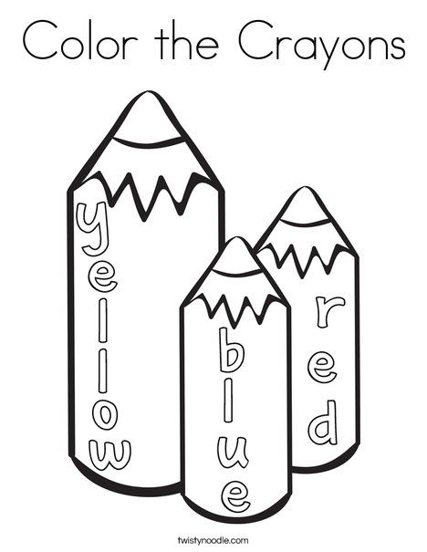 Color The Crayons Coloring Page Crayon Book Coloring Pages Coloring Books