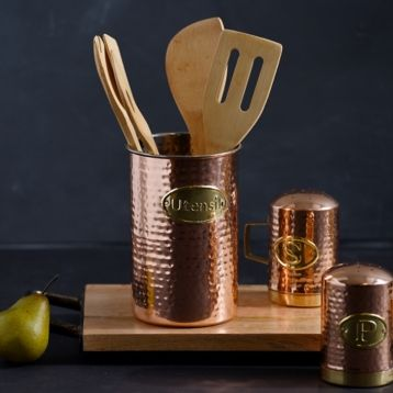 Hammered Copper Utensil Holder Kirklands