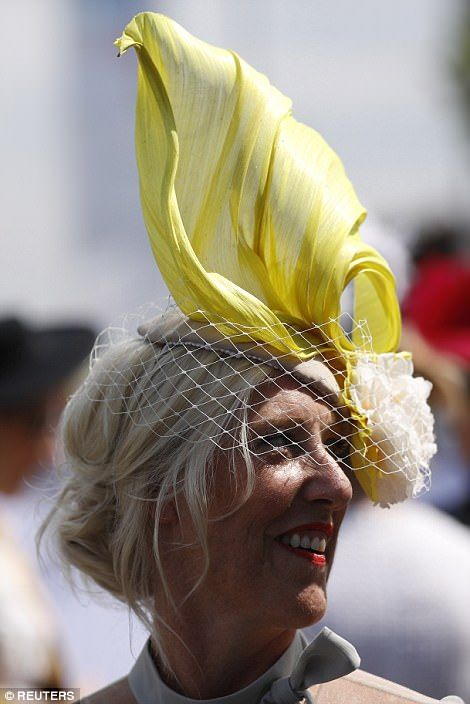 Women plumped for the most elaborate fascinators they could find for the  big day out af5df3919e7