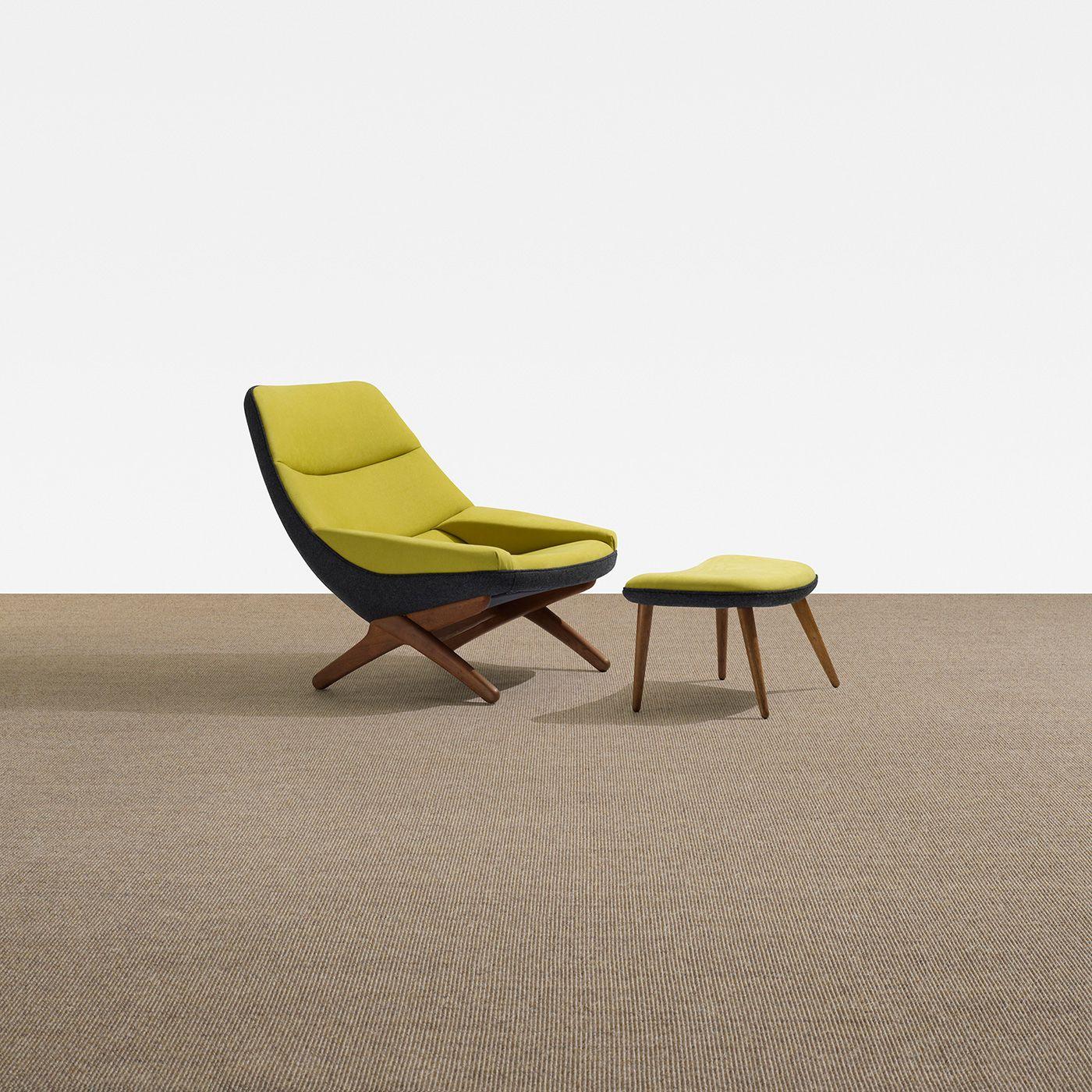 Marvelous Illum Wikkelsø / Lounge Chair And Ottoman , Scandinavian Design.