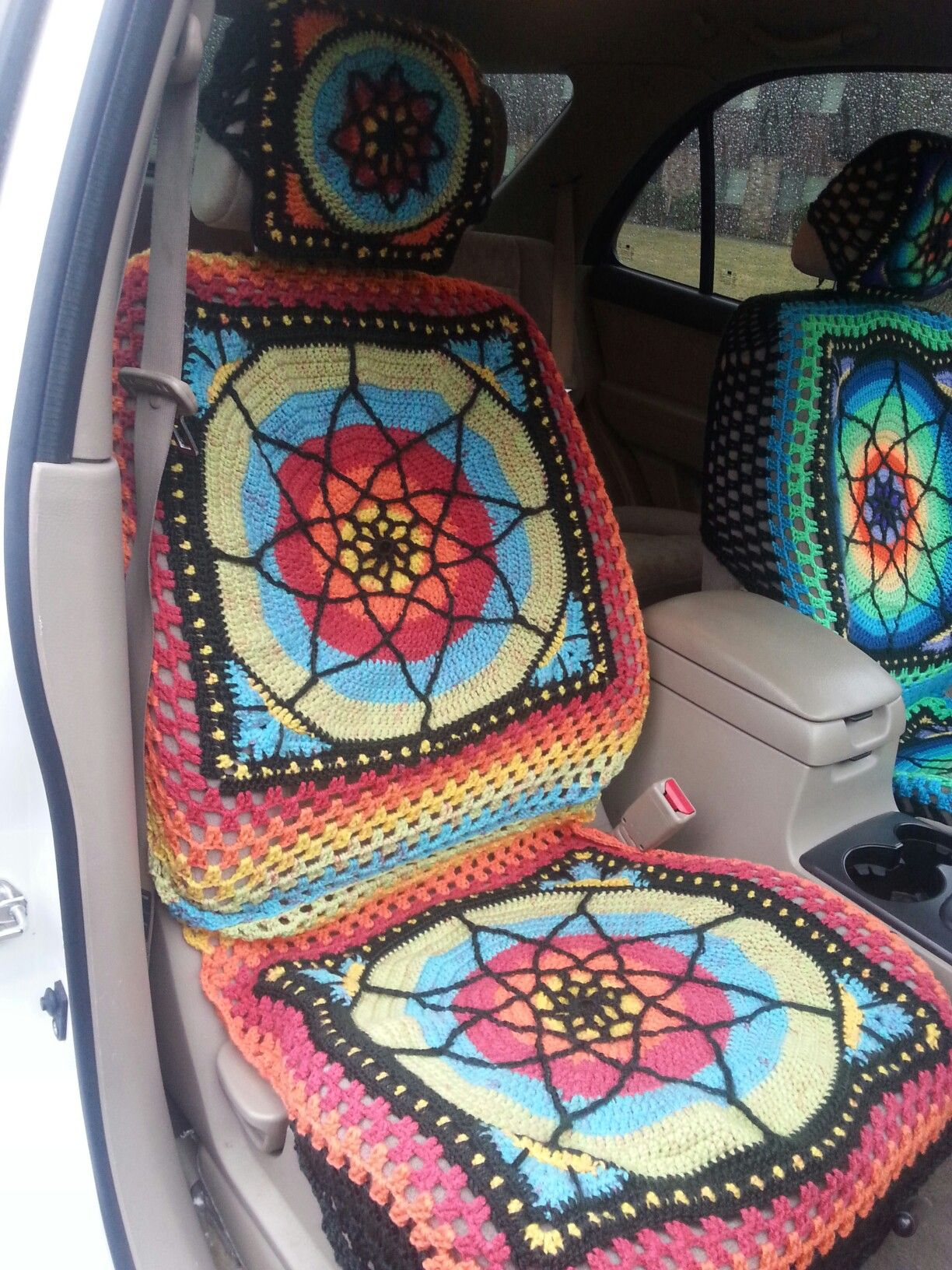 Crochet Carseat Covers This One I Made For A Scion If Interested
