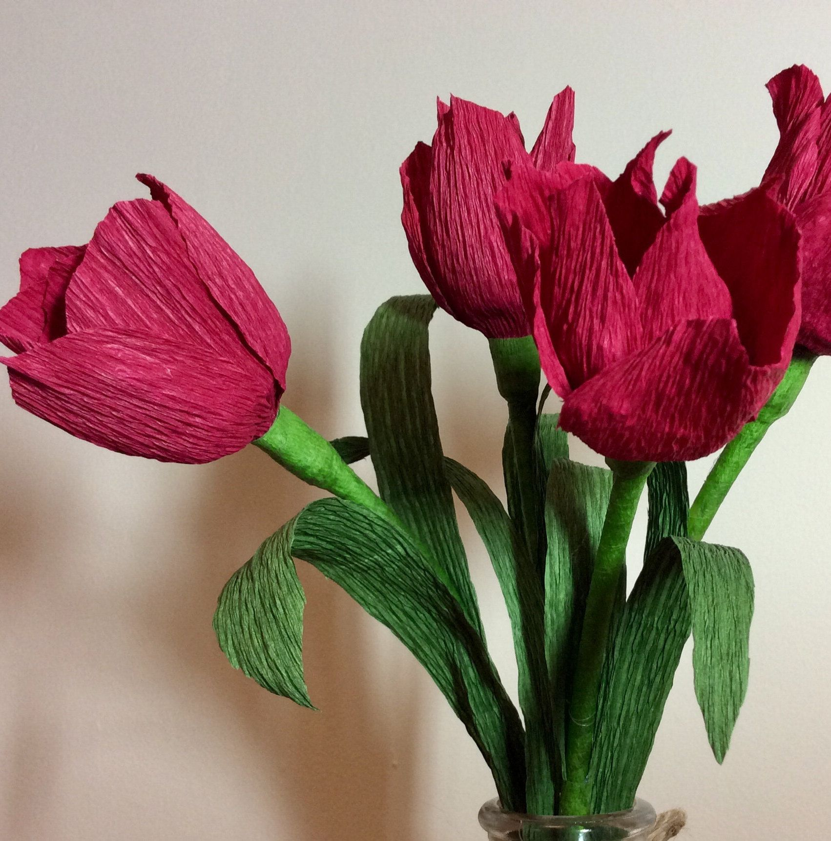 Paper Flowers Tulips Red Tulips Spring Wedding Flowers Red