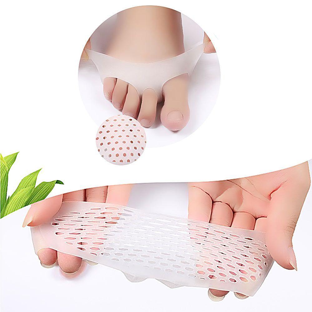 1 Par De Almohadillas De Cojín De Gel De Silicona Rosadas Para El Antepié Alivio Del Dolor Protector Transpirable Para Feet Care Women S Feet Skin Care Tools