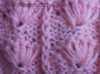 Salute knitting stitches