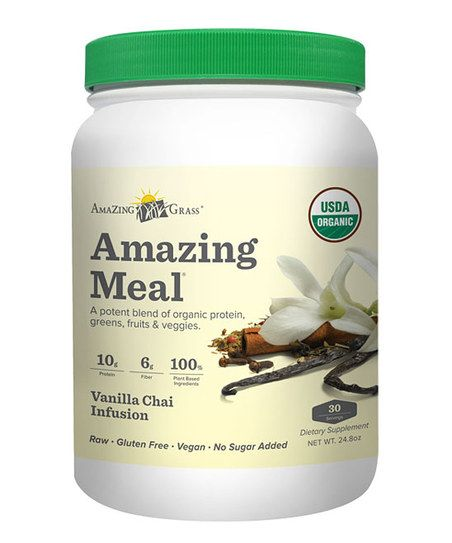 Infused with antioxidant- and phytonutrient-rich superfoods, cleansing fiber, digestive enzymes and probiotics, the Vanilla Chai Amazing meal boasts a delicious flavor. Each bottle contains 11 grams of complete protein and six grams of fiber without fillers or isolated vitamins.
