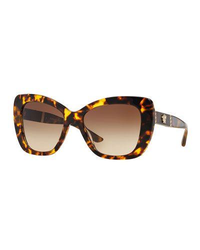 33fcb56da5c D14LF Versace Gradient Oversize Cat-Eye Sunglasses
