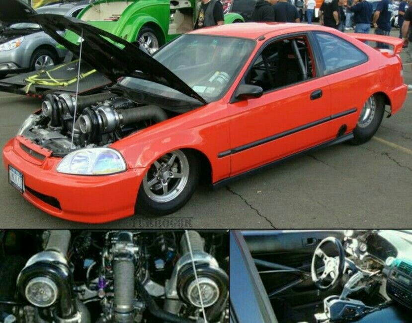Rwd Twin Turbo V8 Honda Civic Honda Civic Turbo Car Honda