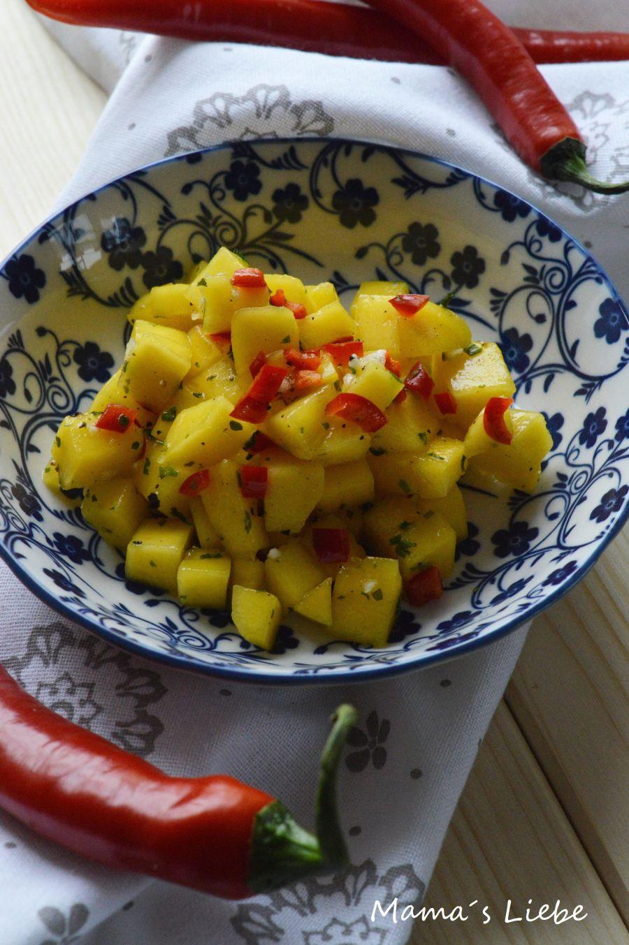 In den letzten Tagen war so einiges los & wenns schnell gehen muss bereite ich gerne mal dieses leckere selbst gemachte Salsa mit Mangos vor, dann heißt es nur noch wenn der kleine Hunger kommt…
