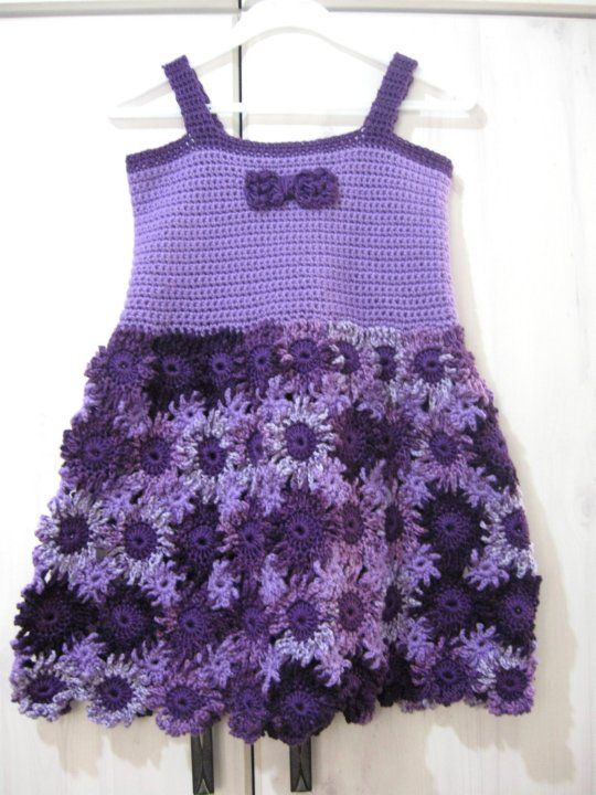 Crochet Flower Dress - Free Crochet Pattern