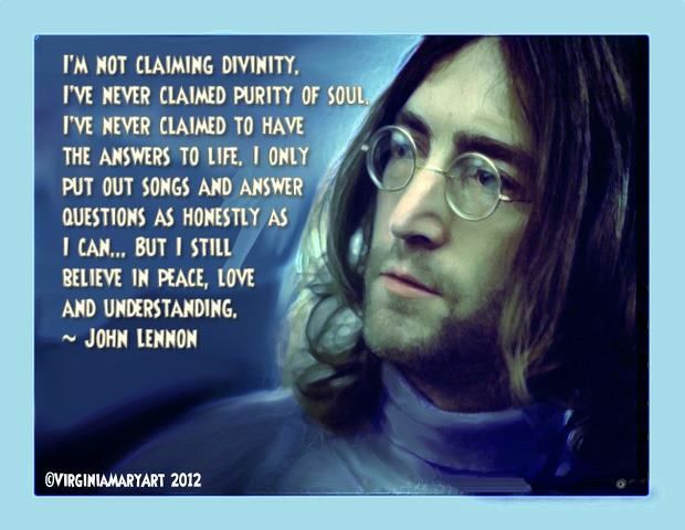 For Peace Love And Understanding John Lennon Quotes Beatles Quotes Lennon