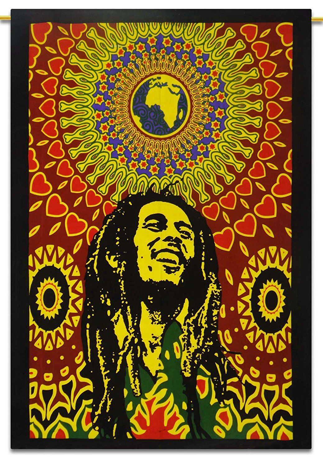 Bob Marley Cotton Indian Wall Hanging Tapestry Poster Size ...