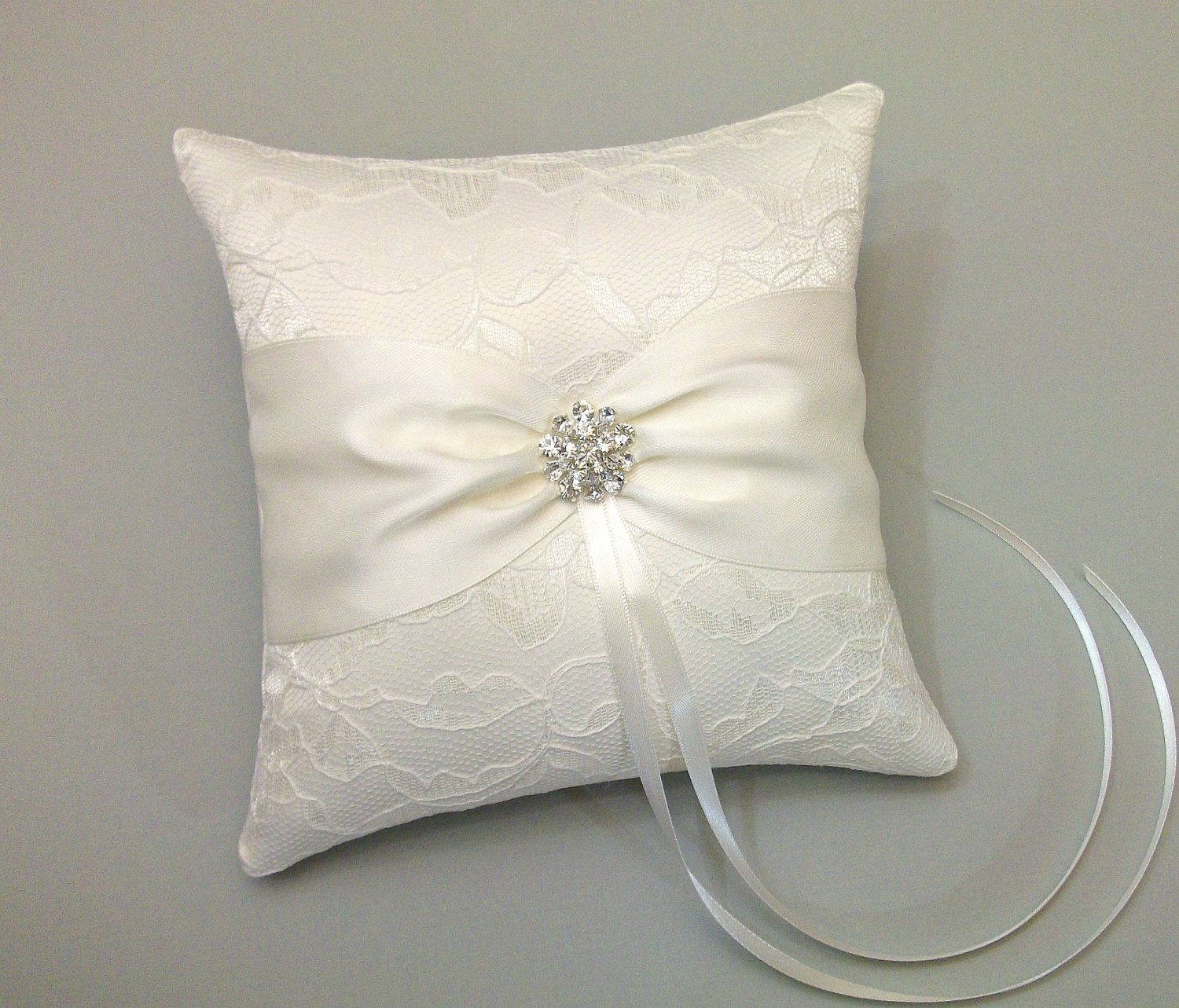 store product ribbon pearl new ceremony satin pillows wedding party pillow supplies ivory bearer ring white