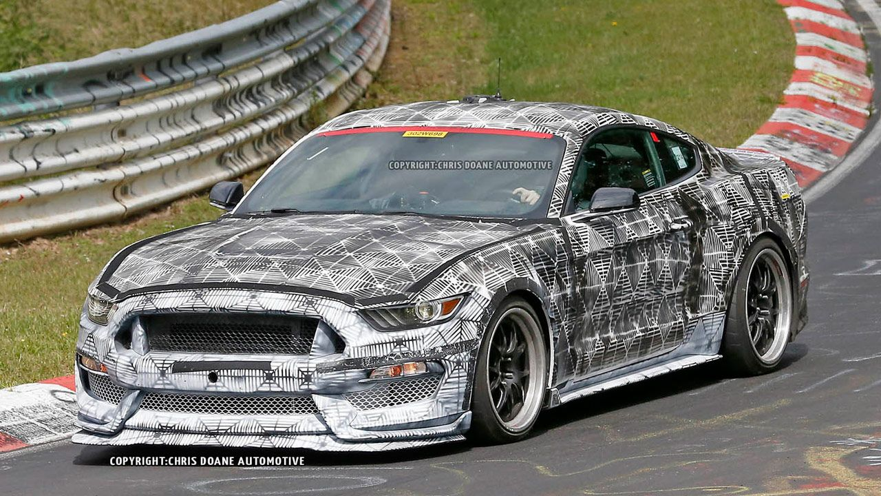 2016 ford mustang shelby gt350r snagged sans heavy camo read more http
