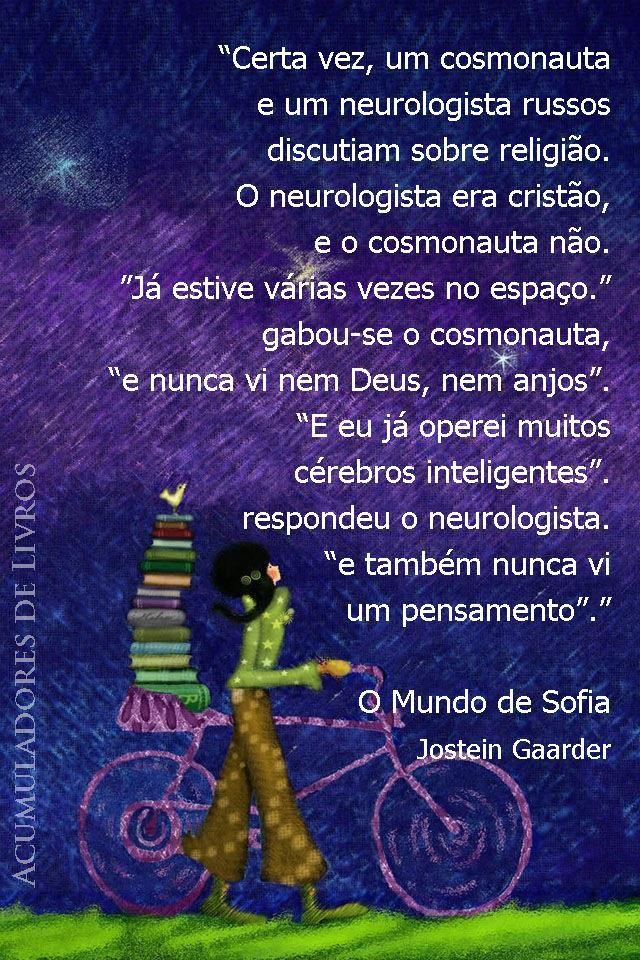 O Mundo De Sofia Jostein Gaarder Citaçoes 2 Frases Books E Quotes