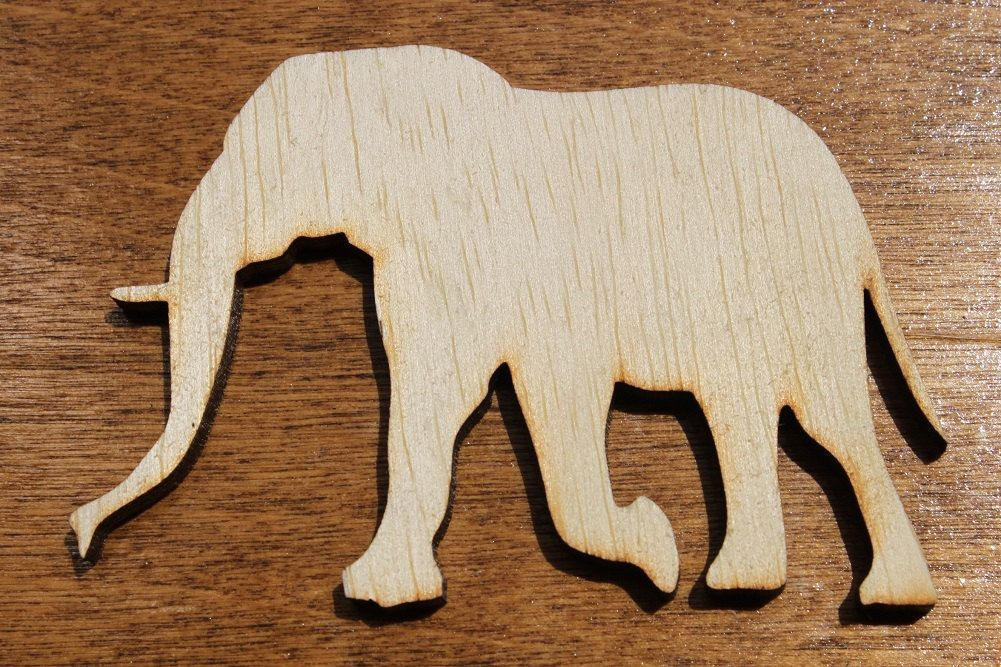Large Elephant Wooden Cutouts Shapes For Projects Or Other Use
