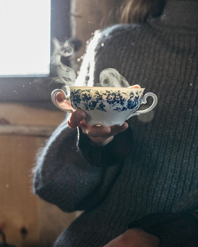 Taking the cold-weather-opportunity to drink from our largest tea cup in our coz... #teacups