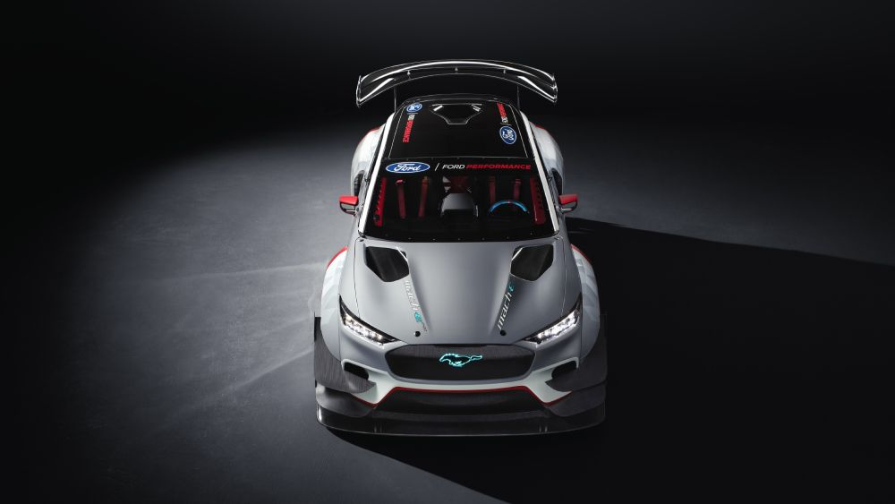 Https Robbreport Com Motors Cars Ford Electric Mustang Mach E Race Car 2937097 In 2020 Ford Electric Race Cars Dream Car Garage