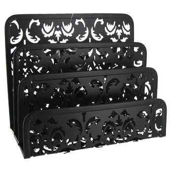 Black Metal Swirl Letter Holder Letter Holder Office Decor Craft Room Office