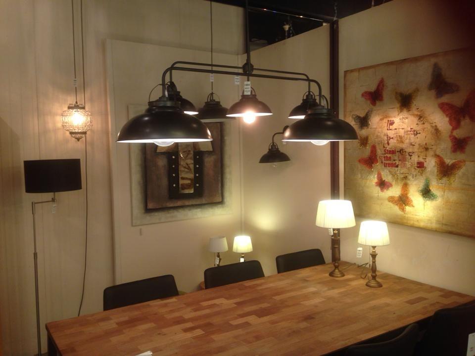 Showroom winkel interieur verlichting landelijke for Landelijke lampen