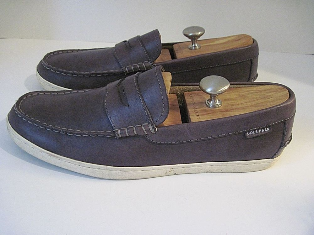 9a5fd411dc1 Cole Haan Grand OS Pinch Maine Classic Casual Gray Leather Penny Loafers  Size 11  ColeHaanGrandOS  LoafersSlipOns