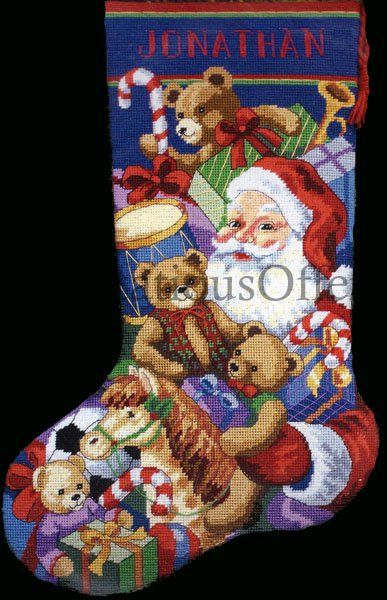 Rare brackenbury artwork santa claus and toys needlepoint christmas rare brackenbury artwork santa claus and toys needlepoint christmas stocking kit solutioingenieria Images
