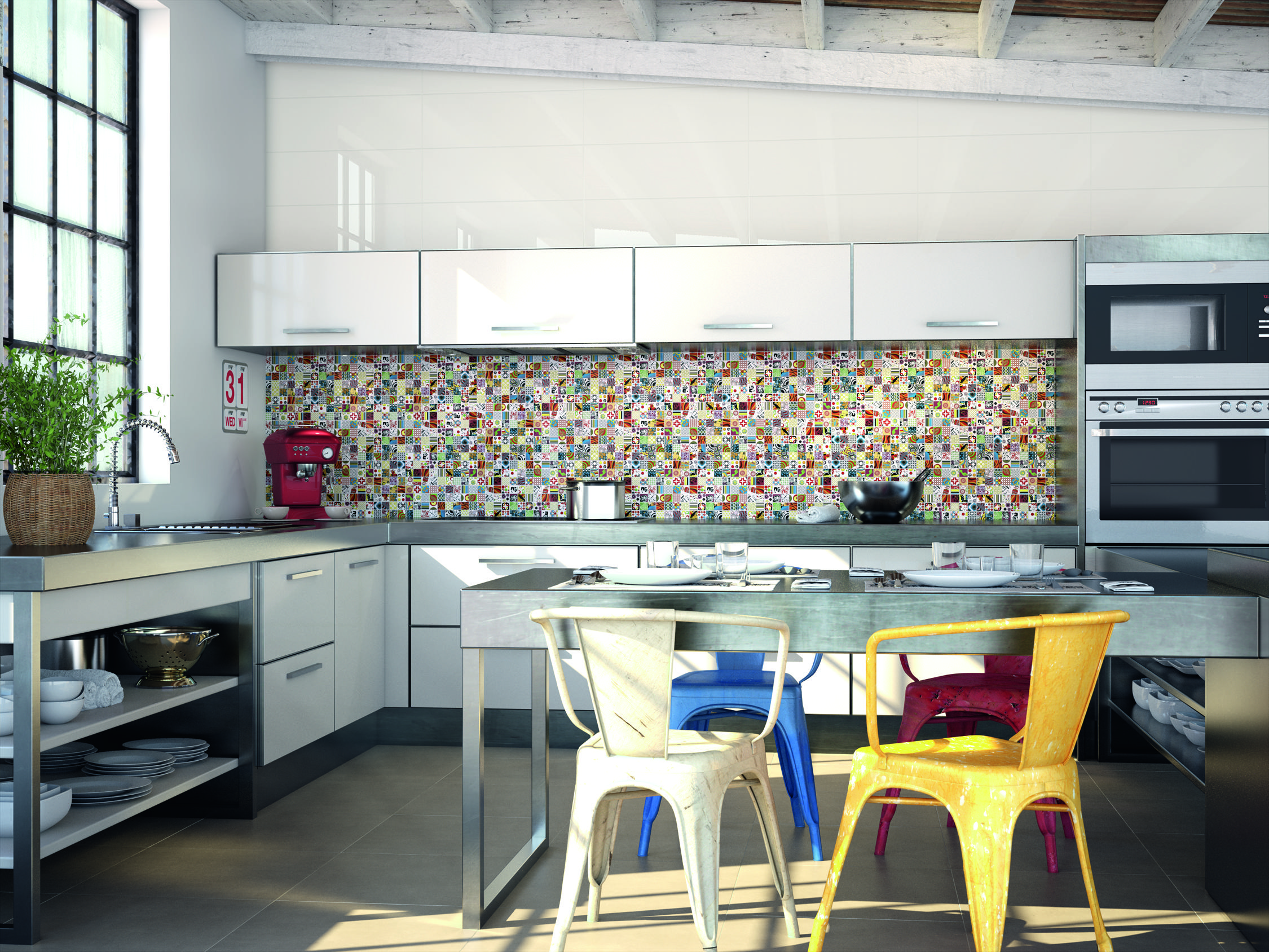 Pop art style tiles for a fresh contemporary interior design look pop art style tiles for a fresh contemporary interior design look for specifiers spanish tile kitchenkitchen dailygadgetfo Images