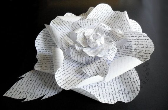 Black and white 3d paper flower sculpture by timelessmanepatterns black and white 3d paper flower sculpture by timelessmanepatterns mightylinksfo