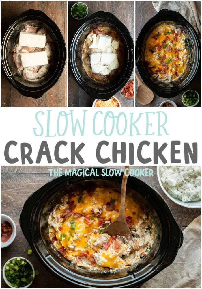 Slow Cooker Crack Chicken - The Magical Slow Cooker