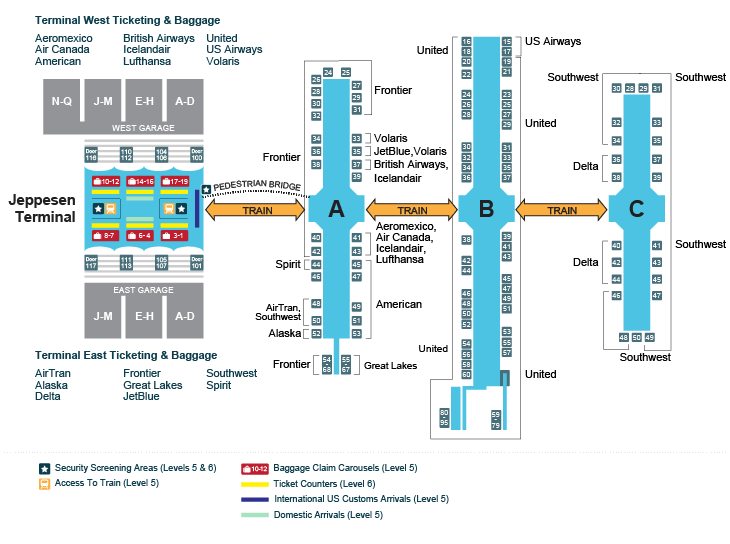 Denver Map Airport