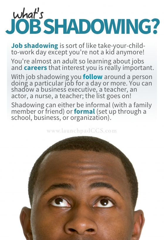 So what exactly job shadowing? Job shadowing is sort of like take - shadowing jobs