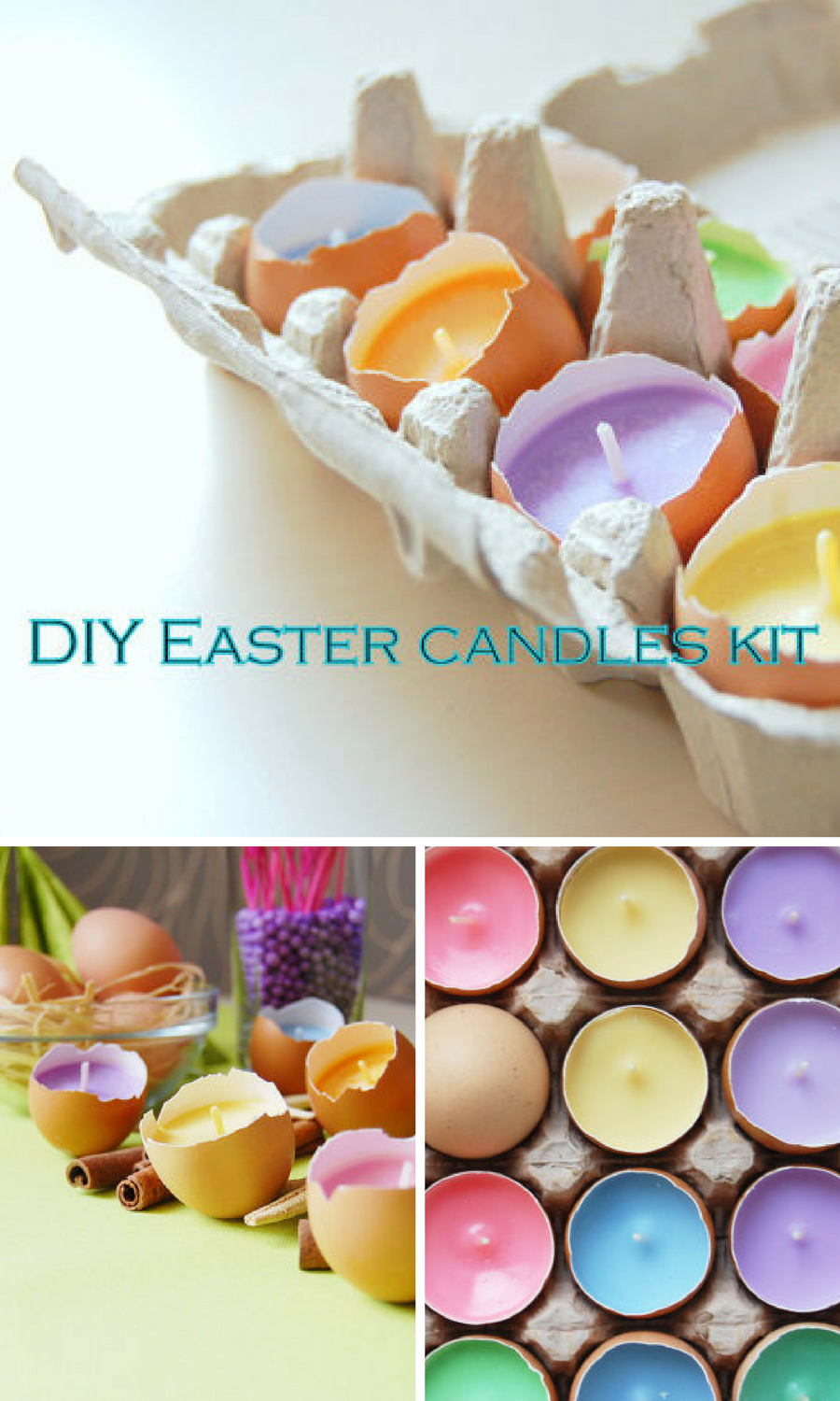 Diy Easter Candles Making Kit Set Of 10 Pastel Colors Soy Wax Easy Diy Kit For Eco Friendly Easter Home Decor Kidac Easter Diy Candle Making Kit Candle Kits