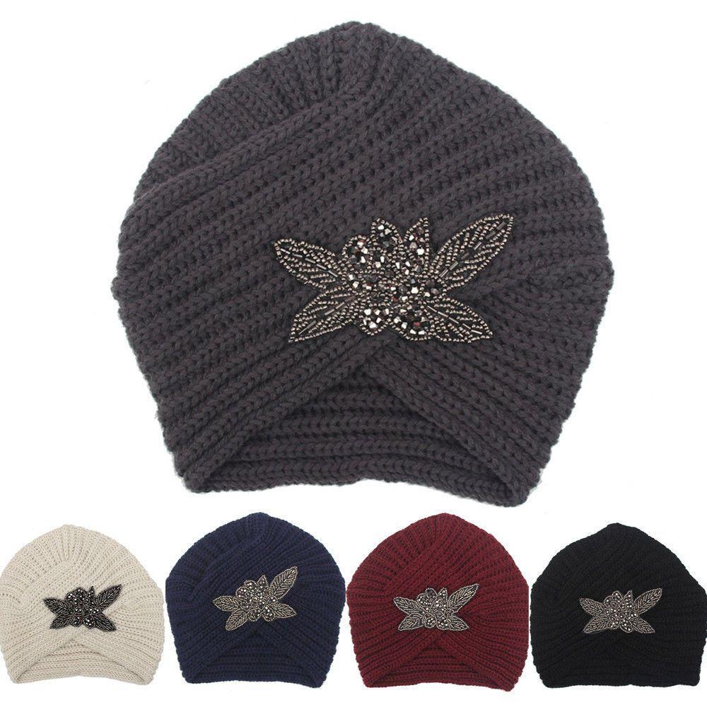 61f5058f185 Women s Lady Beret Braided Baggy Beanie Crochet Warm Winter Hat Ski Cap  Wool Hat