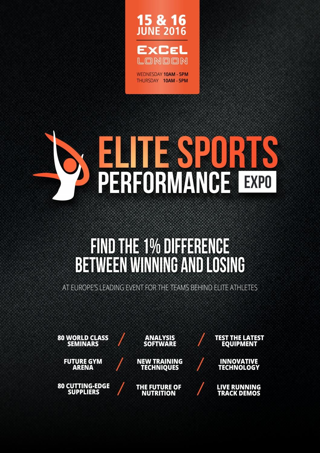 Elite Sports Performance Expo 2016 Show Guide