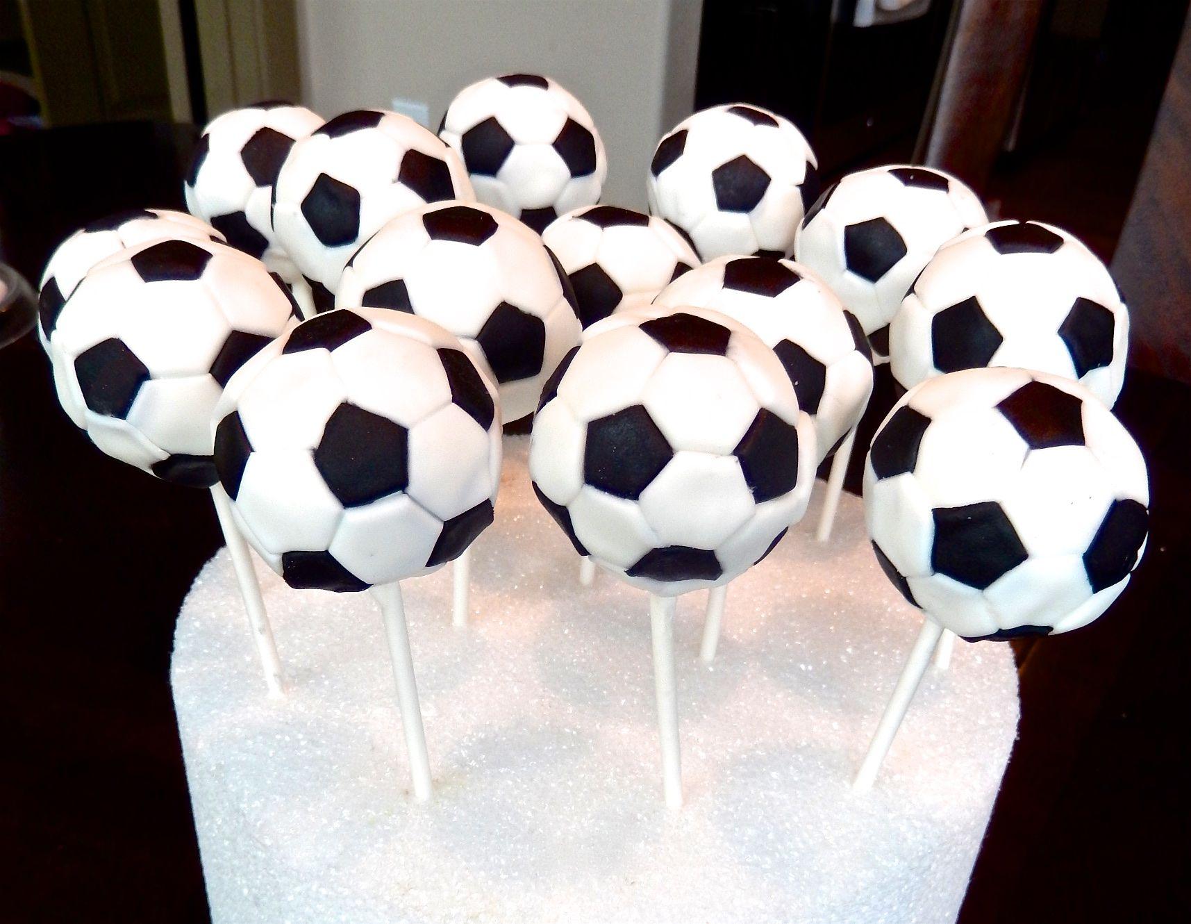 Soccer Ball Cake Pops Soccer Cake Pops Soccer Cake Diy Cake Pops