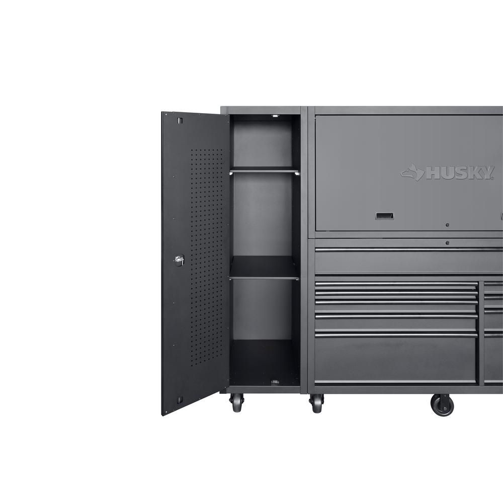 Husky Heavy Duty 80 In W 10 Drawer Deep Combination Tool Chest And Rolling Cabinet Set In Matte Black 3 Piece Hotc8010bb1s In 2020 Garage Storage Units Tool Chest Drawers