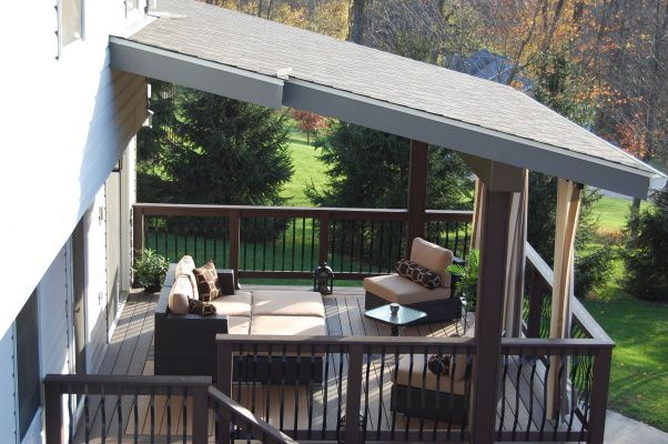 My Wonderful Outdoor Living Space We Tore Down Our Existing Wooden Deck And Built This Amazing Outdoor Livi Wooden Deck Designs Patio Deck Designs Deck Design