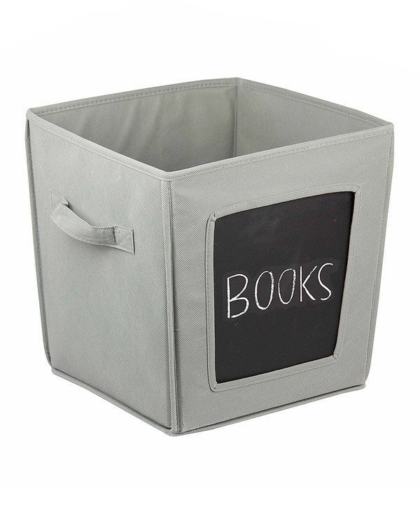 Look at this Gray Medium Chalkboard Storage Bin on #zulily today!