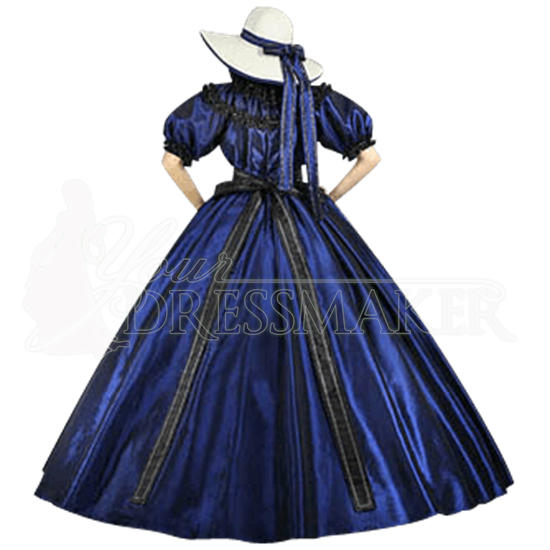 Dark Blue Civil War Dress #dressesfromthesouthernbelleera
